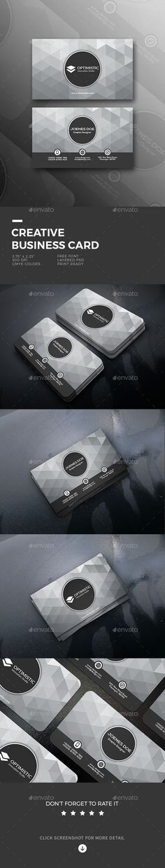 Buy Creative Business Card by shapetrick on GraphicRiver. Features: 2 PSD File include Rounded Corners Die cut printing possible Print Size (Bleed size x Minimal Business Card, Cool Business Cards, Business Card Design, Creative Business, Business Flyer Templates, Logo Templates, Name Card Design, Layout Template, Photoshop