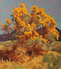 Chamisa by Robert Daughters Art And Illustration, Landscape Art, Landscape Paintings, Landscapes, Painting Inspiration, Art Inspo, Southwest Art, Art Hoe, Art For Sale
