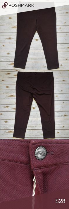 Maurices Stretchy Maroon Skinny Pants Maurices Stretchy Maroon Skinny Pants Size 3x in excellent used condition. These are my favorite pants from Maurices! They are very flattering & comfortable. Please feel free to ask any questions or bundle with other listings in my closet for a custom discount on your order. I ship the same day as long as the order is placed before 11:00 AM Central time. Thank you for checking out my closet and happy poshing! Maurices Pants Skinny