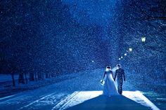 ♥ beautiful snowy winter wedding