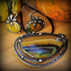 Jak kvete podzim 1. /Achát/ - náhrdelník