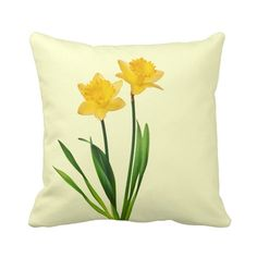 Generic Custom Yellow Spring Daffodils - Daffodil Template Pillows Cotton Decorative Pillowcase 18inch Throw Pillowcase Cushion Cover Twin Sides * New and awesome product awaits you, Read it now  : DIY : Do It Yourself Today