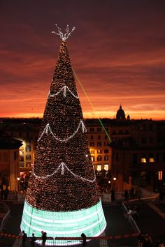 Christmas in Rome - Piazza di Spagna at Sunset