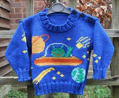 Aliens in Space Sweater Knitting Pattern