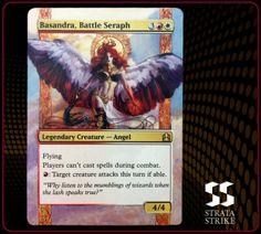 Basandra, Battle Seraph - 2013 Strata Strike Magic the Gathering (MTG) alter. www.stratastrike.com