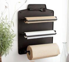 Such a great idea! Foil, cling wrap, parchment paper... by ritari