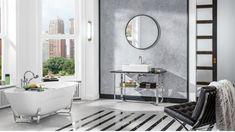 Villeroy & Boch presents its Premium novelties at Milano Design Week Bathroom Wall Decor, Bathroom Interior, Modern Bathroom, Cadre Design, Kitchen Gallery, Vanity Units, Clawfoot Bathtub, Modern Interior Design, Innovation Design