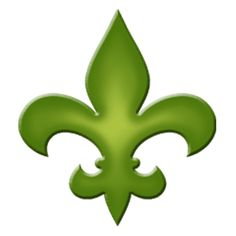 Fleur De Lis Step Marker - Green (Set of 3)