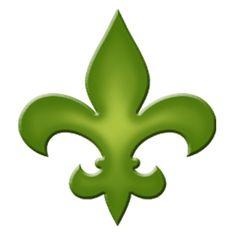 Fleur De Lis Step Marker - Green (Set of 3)