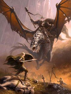 Éowyn vs Rei Bruxo