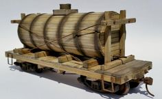 MHM#132 On30 wooden Water Tank Car Kit