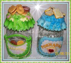 potes de plastico com biscuits - Pesquisa Google