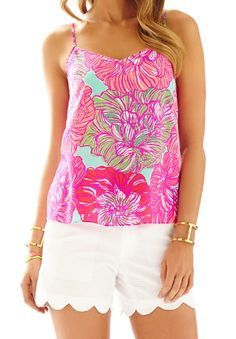 Lilly Pulitzer Dusk Racer Back Tank Top in Worth It