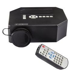 [$44.01] UC30 Full HD 1080P Home Theater Mini Projector for Video Games TV Movie, Support HDMI / VGA / AV(Black)