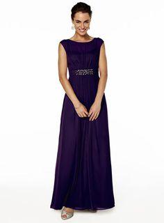 Amelia Grape Long Dress - bridesmaid dresses - adult bridesmaids  - Wedding