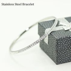 Find More Bangles Information about Stainless Steel Zirconia Bangle Pulseira Feminina Wedding Bridal Jewelry Bracelets for Women Summer Jewelry Pulseras Mujer YL008,High Quality zirconia bangle,China stainless steel bangle bracelet Suppliers, Cheap steel bangle bracelets from Uloveido Official Store on Aliexpress.com