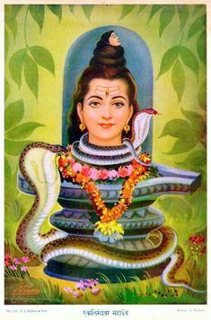 Eklingeshwar Mahadev.   Published by S. S. Brrijbasi & Sons Shiva Art, Shiva Shakti, Hindu Art, Durga Ji, Durga Goddess, Maa Kali Images, Hindu Deities, Hinduism, Avatar Poster