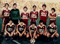 FC METZ 1982-83  Zdun - Ettorre - Thys - Sonor - Loiseau - Bernad Kurbos -Morgante- Bracigliano - Formica - Bellus Fc Metz, Football Team, Creative, Movies, Movie Posters, Football Squads, Films, Film Poster, Cinema