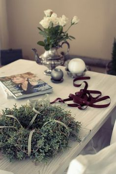 A wreath in the making  http://skiglari-norppa.blogspot.com