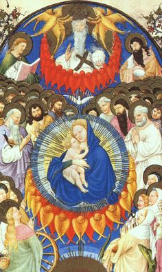 The Heavenly Host - Limbourg brothers - Tres Riches Heures du Duc de Berry :: WikiPaintings.org