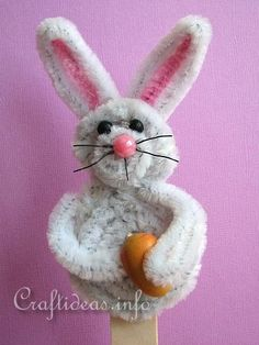 Easter Craft - Chenille Easter Bunny