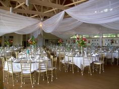 Ceiling draping for the venue. interesting idea