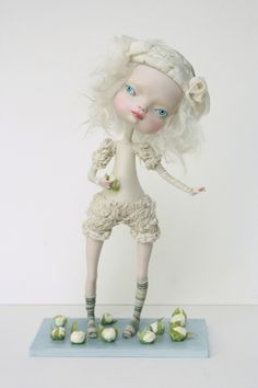 """Cauliflower"" made by dolls artist Sasha Petrova"