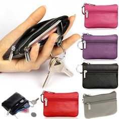 PU Leather Coin Purses Women's Small Change Money Bags Pocket Wallets Key Holder Case Mini Pouch Zipper BS88 #Affiliate