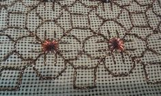 Beaded Embroidery, Embroidery Designs, Cross Stitching, Blackwork, Projects To Try, Beads, Sewing, Fabric, Image
