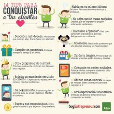 14 consejos para conquistar a tus clientes #infografia #infographic #marketing