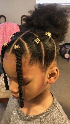 Black Girl H. - Black Girl Hairstyles For Kids Little Girls Ponytail Hairstyles, Little Girl Ponytails, Little Girls Natural Hairstyles, Cute Toddler Hairstyles, Kids Curly Hairstyles, Trending Hairstyles, Little Mixed Girl Hairstyles, Black Toddler Girl Hairstyles, Little Girl Braid Styles