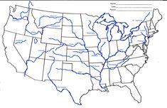 united states rivers and lakes map mapsofnet of midwest usa inside throughout us blank csillagszuletik