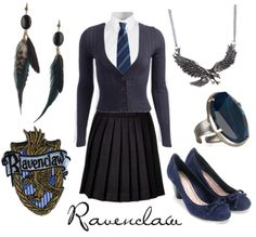 Seeing as I was sorted into the Ravenclaw House on Pottermore, I guess this is what I would wear...
