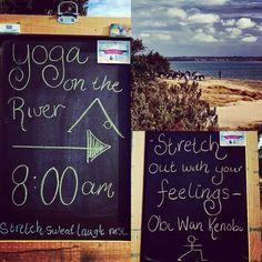 Yoga on the River   8am - Barwon River - Barwon Heads  Start the day well #yoga #stretch #nature #health #yogaontheriver  #aguideto #aguidetobarwonheads #smallbusiness #shoplocal #livelovelocal  #photography #ocean #beach #surf #art #summer  #barwonheads #oceangrove #bellarine #bellarinepeninsula #gtown #geelong #melbourne #visitvictoria #tourismgeelong #australia #visitgeelongbellarine by a_guide_to_barwonheads http://ift.tt/1JO3Y6G