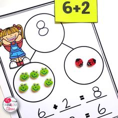 Year Round Eraser Math Centers Number bonds, ten frames, addition, and subtraction