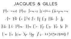 Jacques & Gilles Script Font