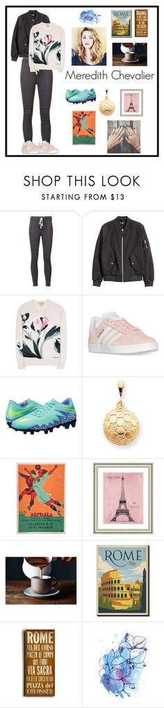 """""""Anna & the French Kiss [Meredith Chevalier]"""" by itsindiependence ❤ liked on Polyvore featuring NSF, Burberry, adidas, NIKE, Kevin Jewelers, Vintage Print Gallery, Home Decorators Collection, annaandthefrenchkiss and AATFK"""