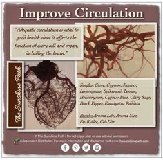 Essential oils to improve blood circulation