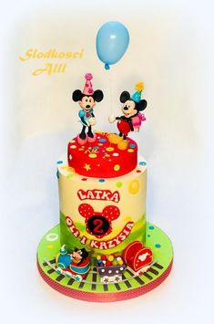 Mickey and Minnie Mouse Cake by Alll