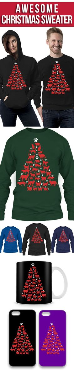 Cats Christmas Tree Ugly Christmas Sweater! Click The Image To Buy It Now or Tag Someone You Want To Buy This For. #cat