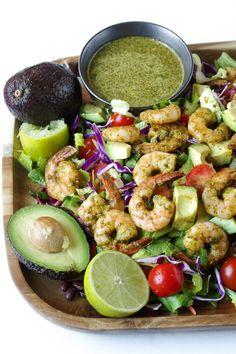 Shrimp and Avocado Salad with Cilantro Lime Dressing