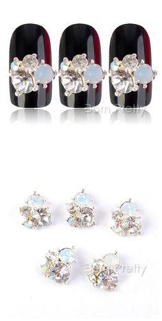 $2.99 3шт выделяющийся Кристалл со стразами шпильки горный хрусталь 3D ногтей украшения - BornPrettyStore.com