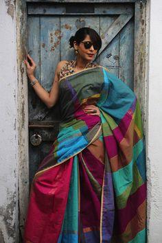 Jewel Tones Kanchi Cotton Design 1 Saree