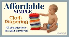 Affordable Cloth Diapering www.cocoswell.com