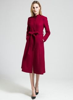 Latest fashion trends in women's Coats. Shop online for fashionable ladies' Coats at Floryday - your favourite high street store. Double Breasted Coat, Latest Fashion Trends, Coats For Women, Lady, Long Sleeve, Shopping, Dresses, Trench Coats, Jackets