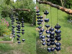Diy Art Projects, Diy Garden Projects, Upcycled Home Decor, Diy Home Decor, Unique Gardens, Dollar Store Crafts, Bottle Crafts, Garden Art, Wind Chimes