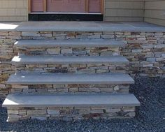 Stone front porch steps..not the color