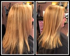 Hair by Kimmie Moore : We colored her base added a few baby Highlights the finished with a trim and Brazilian Blowouts Split End Repair treatment . Entourage Salon and Spa Des Moines WA 206.824.4176