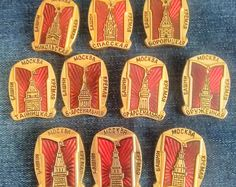 """Набор советских значков """"башни Московского Кремля"""" набор 10 штук Moskovksky Кремль, Москва, Россия. 1980."""