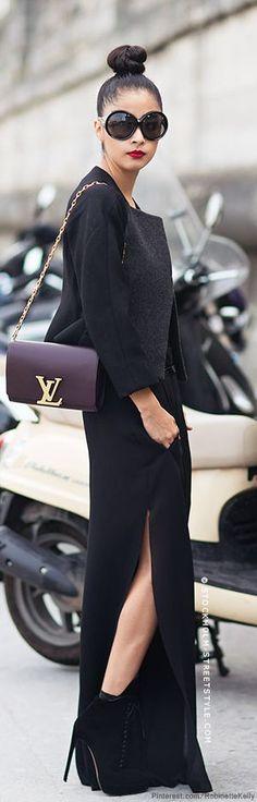 #style | denni elias | Tom Ford sunglasses, Acne trousers, Versace bodysuit, Stella McCartney blazer, Alaïa boots, Louis Vuitton bag